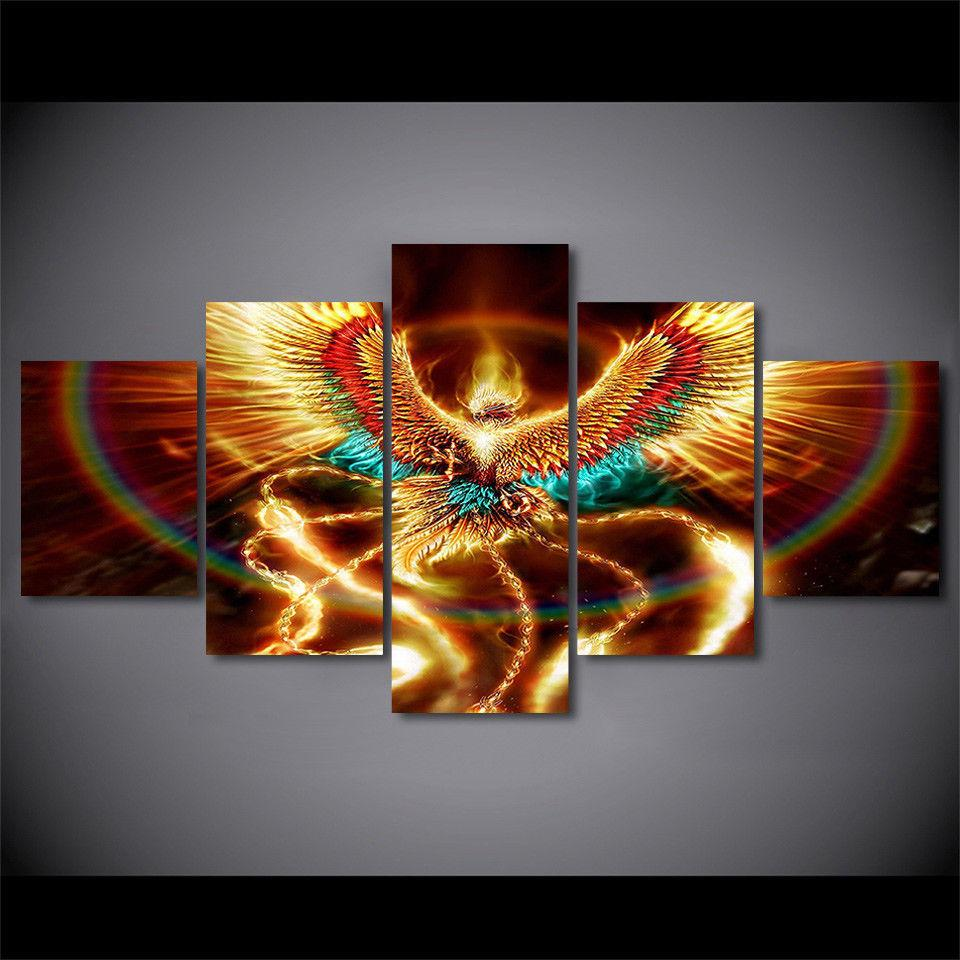 Wall Paintings For Sale Phoenix Bird Colorful Rebirth