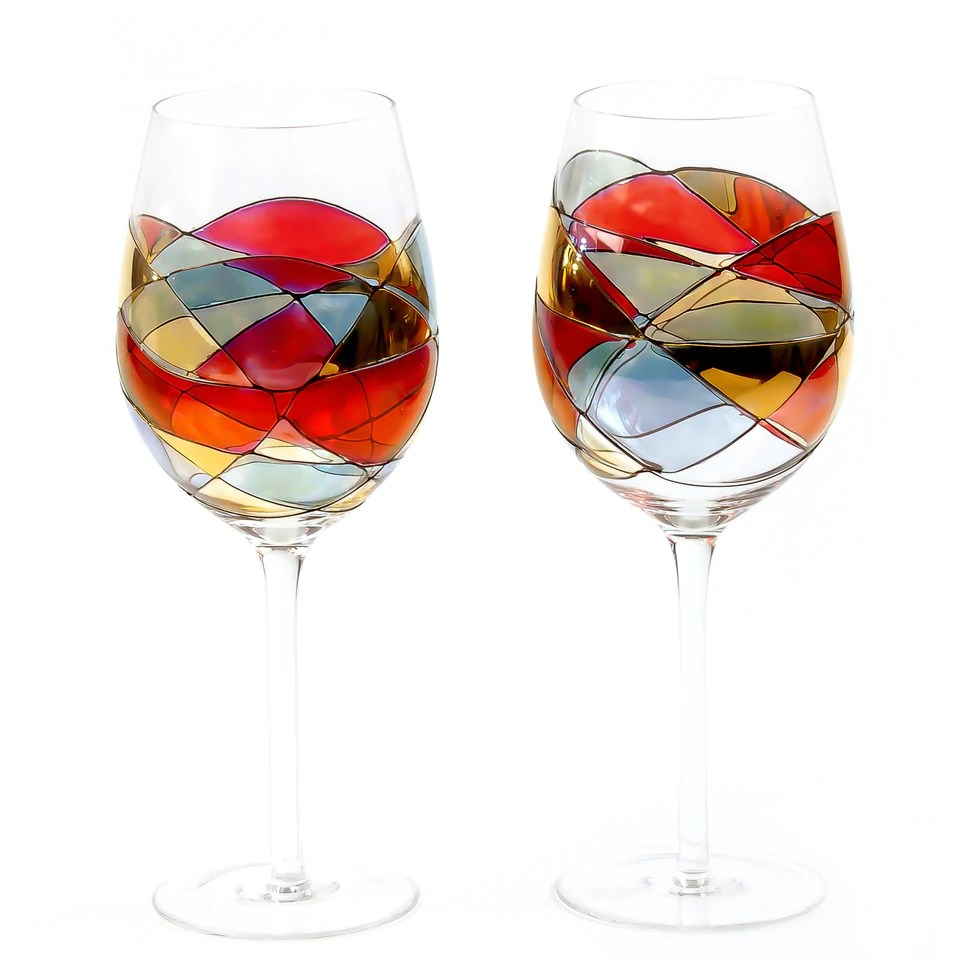 Red Wine Glasses For Sale Sagrada Red Line 29oz Large Wine Glasses