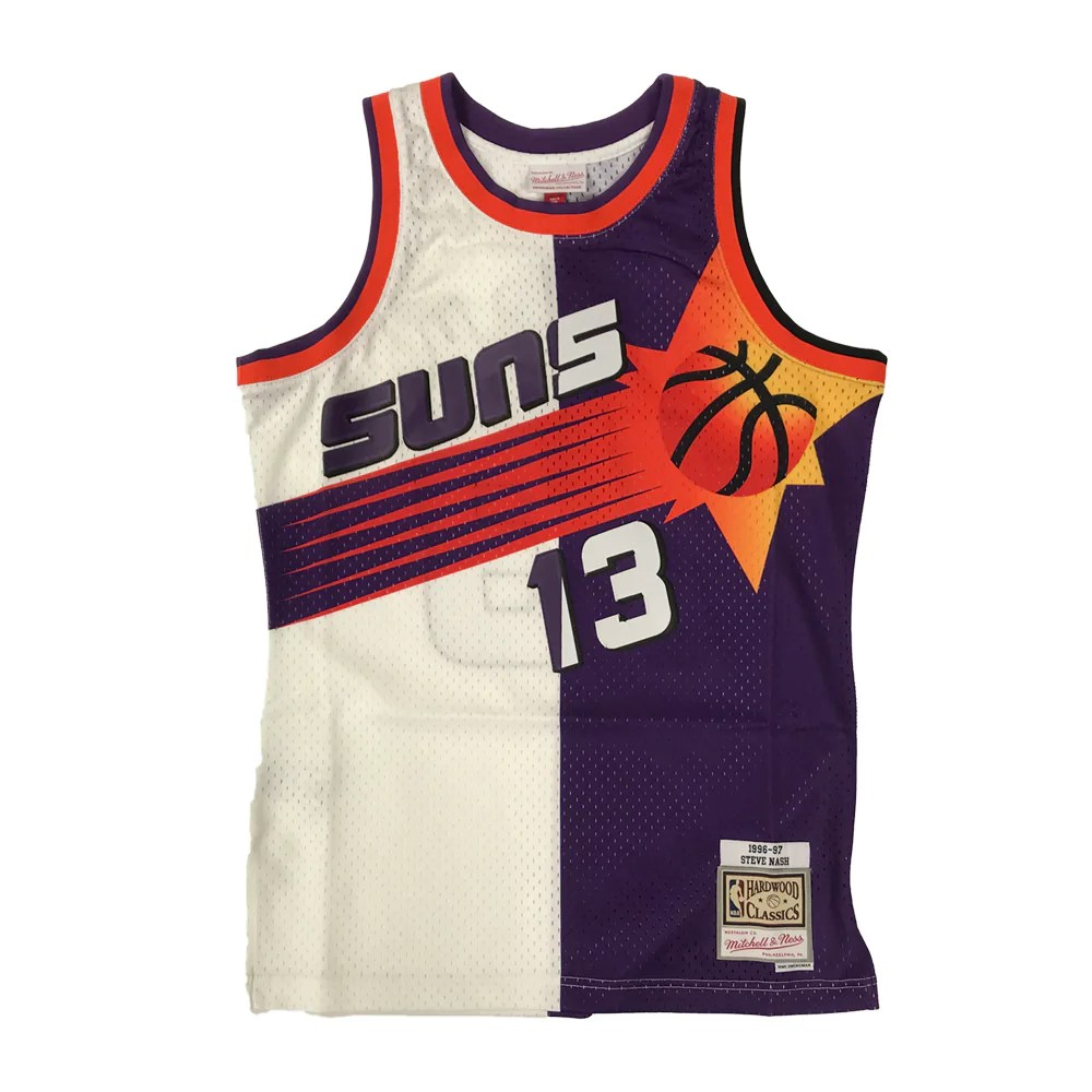 Retro Jerseys Nba Phoenix Suns Steve Nash Mitchell Ness Split Retro Swingman Jersey