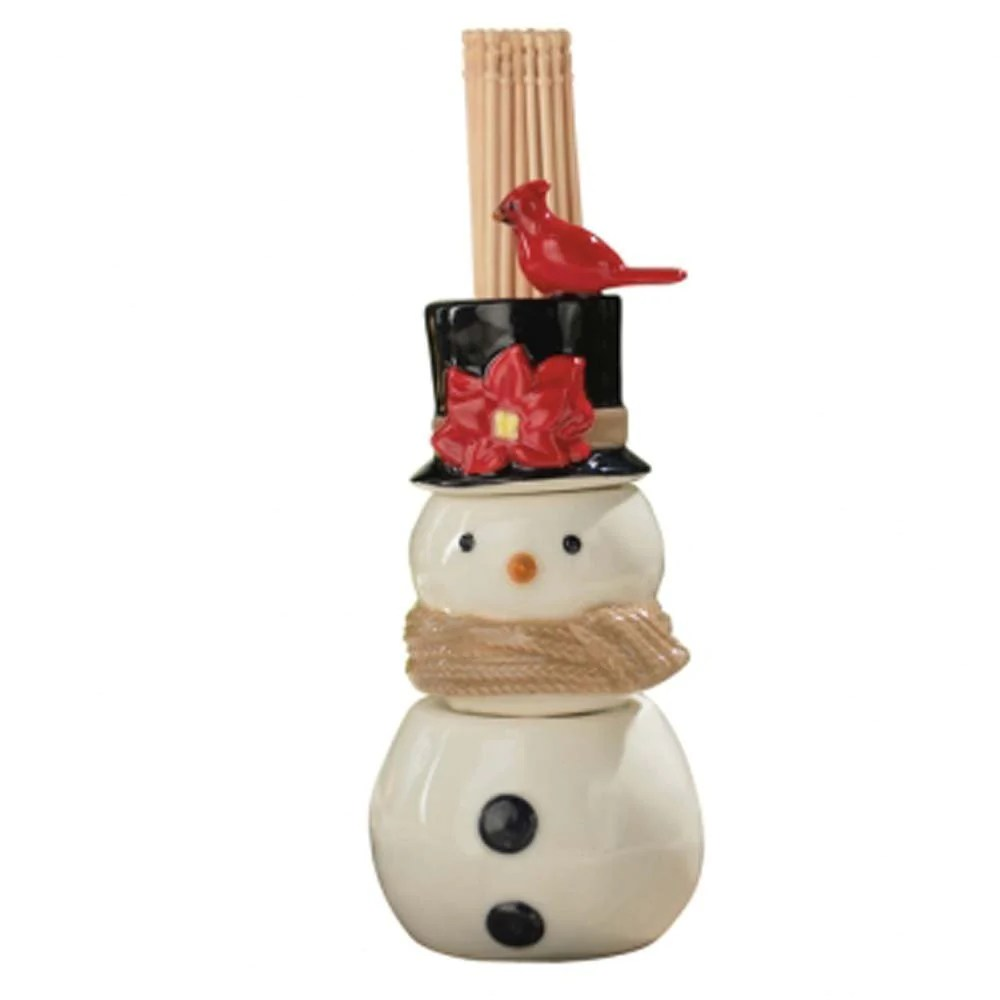 Modern Salt Pepper Shakers Grasslands Road Christmas Song Snowman Salt And Pepper Shaker And Toothpick Holder