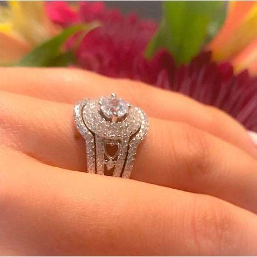 Medium Of Engagement Ring Hand