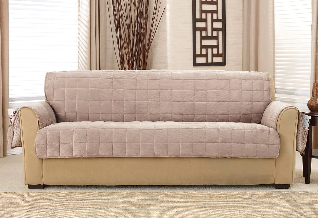 Couch Covers Deep Pile Velvet Furniture Sofa Covers Surefit