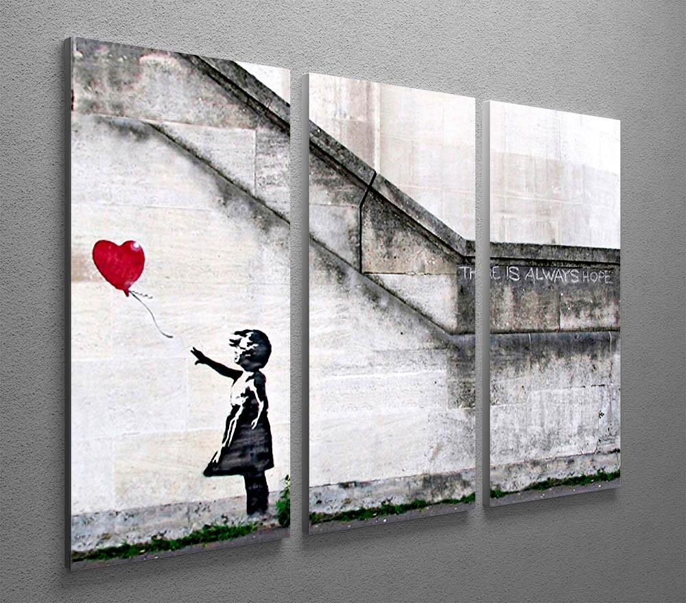 Banksy Canvas Art Banksy There Is Always Hope 3 Split Canvas Print
