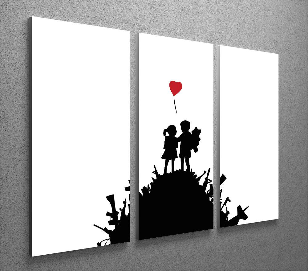 Banksy Canvas Art Banksy Kids On Gun Hill 3 Split Canvas Print