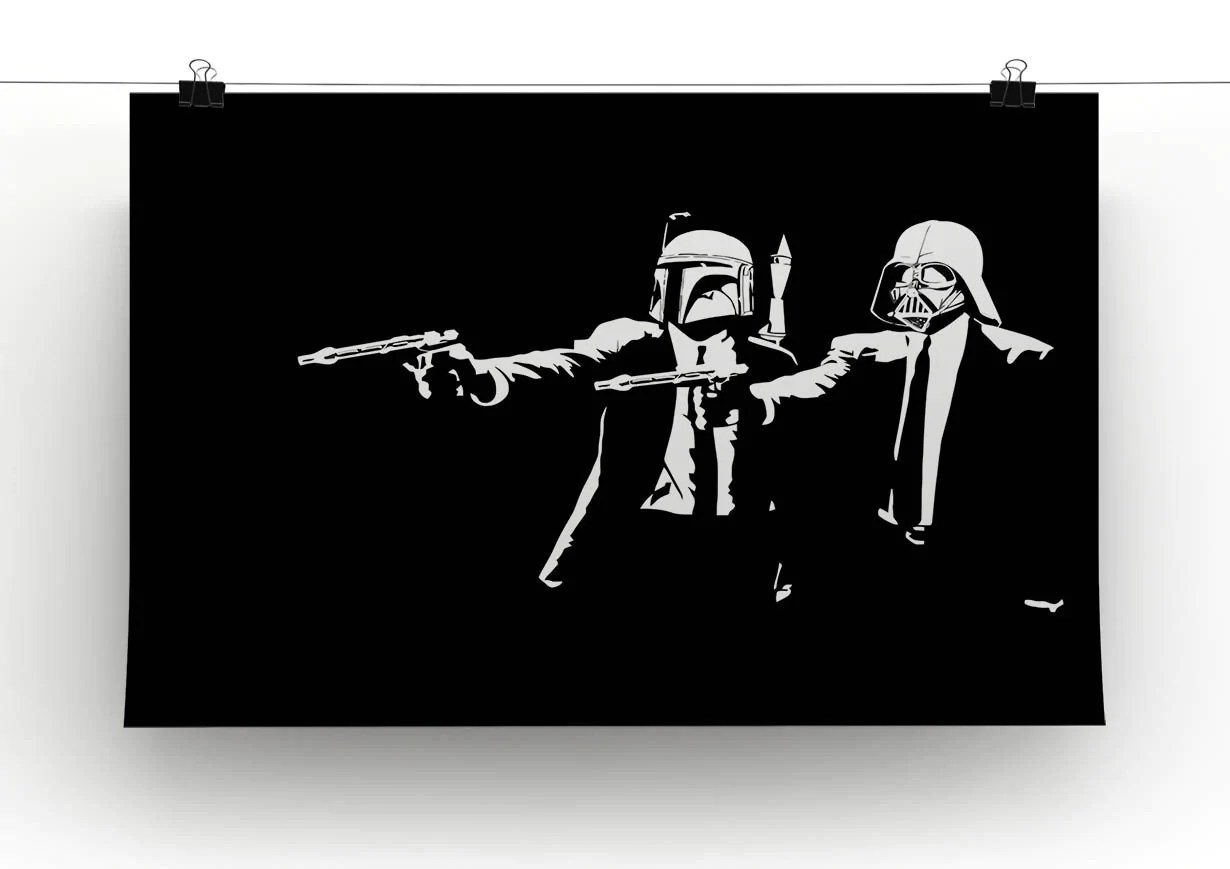 Banksy Canvas Art Banksy Pulp Fiction Star Wars Canvas Print Or Poster