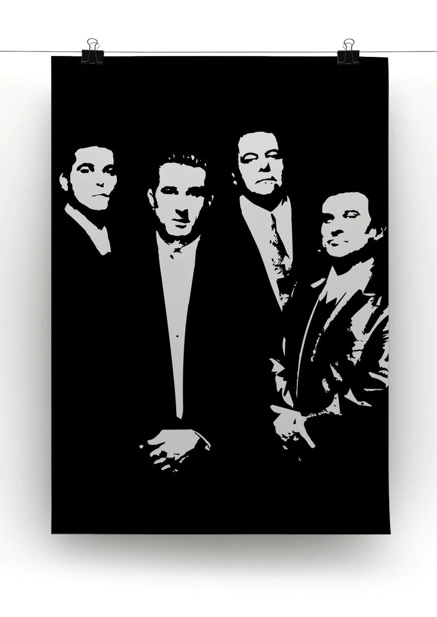 Black And White Canvas Pictures Goodfellas Black Or White Canvas Print Or Poster