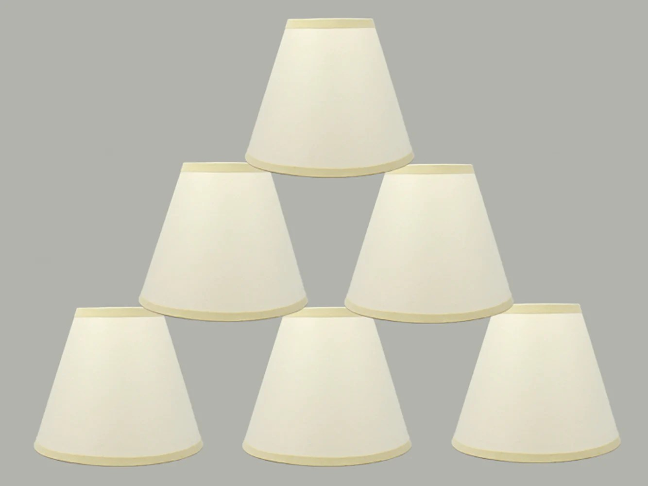 Paper Light Shades Craft Paper 6 Inch Chandelier Lamp Shade Eggshell