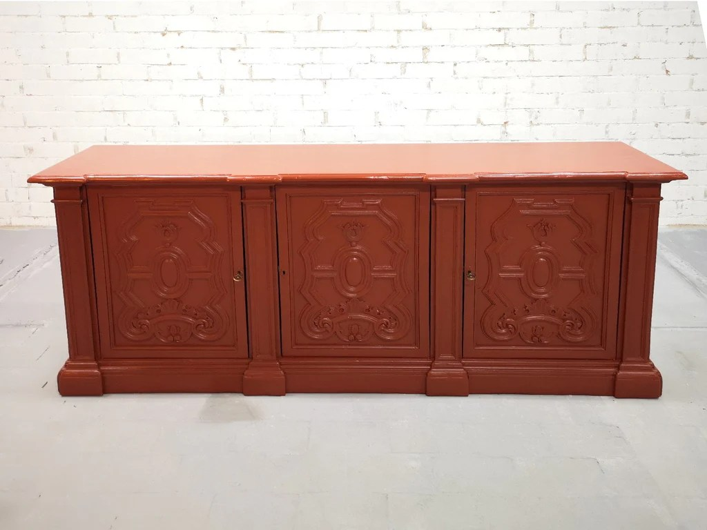 Sideboard Shabby Chic Early 20th C French Brick Red Country Sideboard Kitchen Buffet Shabby Chic