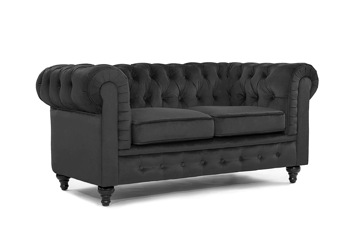 Canapé Chesterfield 2 Places Samantha Canapé Chesterfield 2 Places Velours Coloris