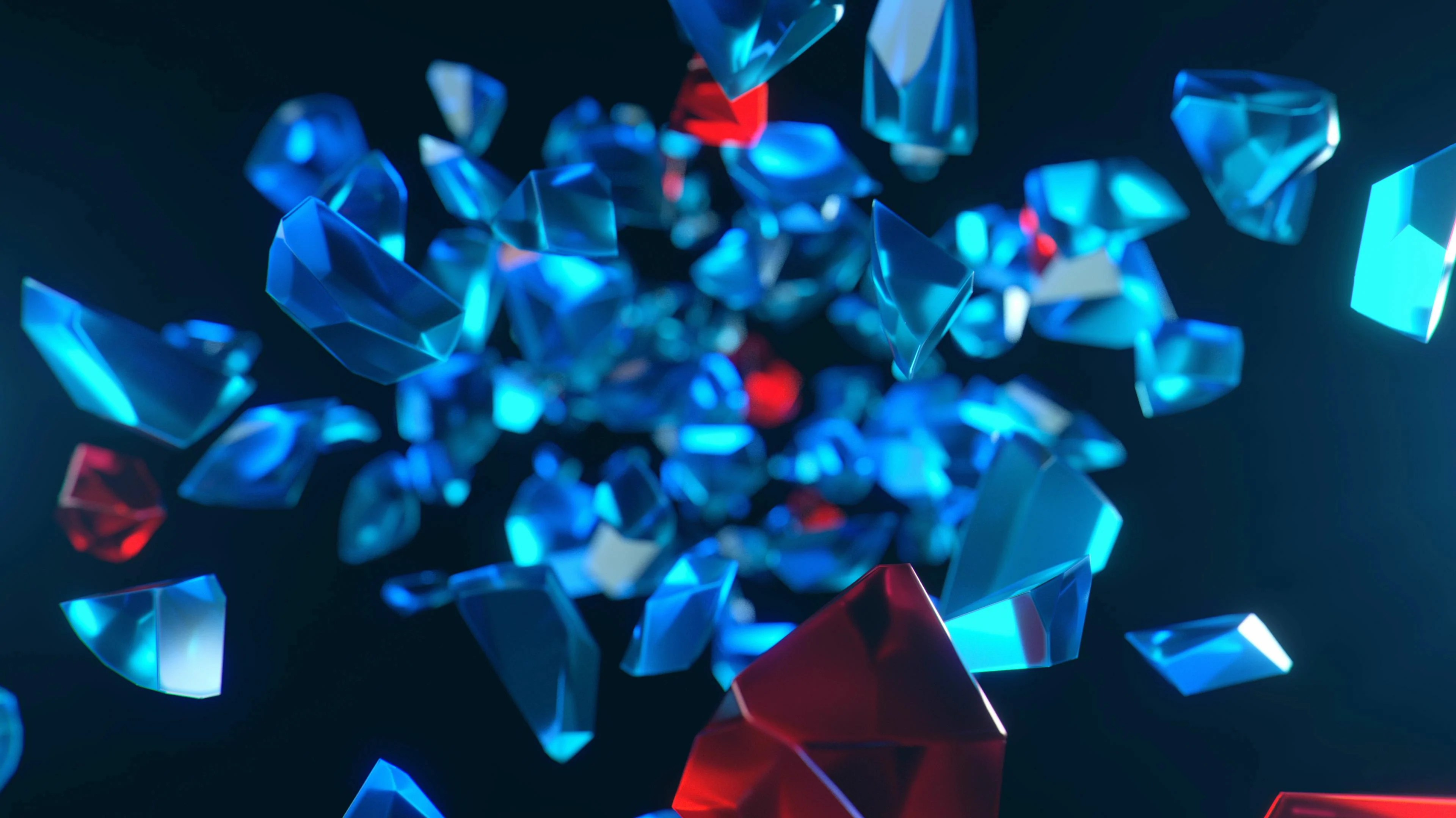 V J Vj Loop Diamond Glass Gem Shards 4k 1080p