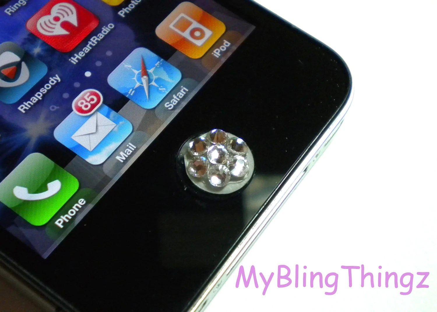 Iphone 3gs Crystal Bling Home Button Sticker For Apple Iphone 3gs 4 4s 5 Ipad 2 3 4 Mini Ipod Touch All Handmade W Swarovski Elements Aquamarine