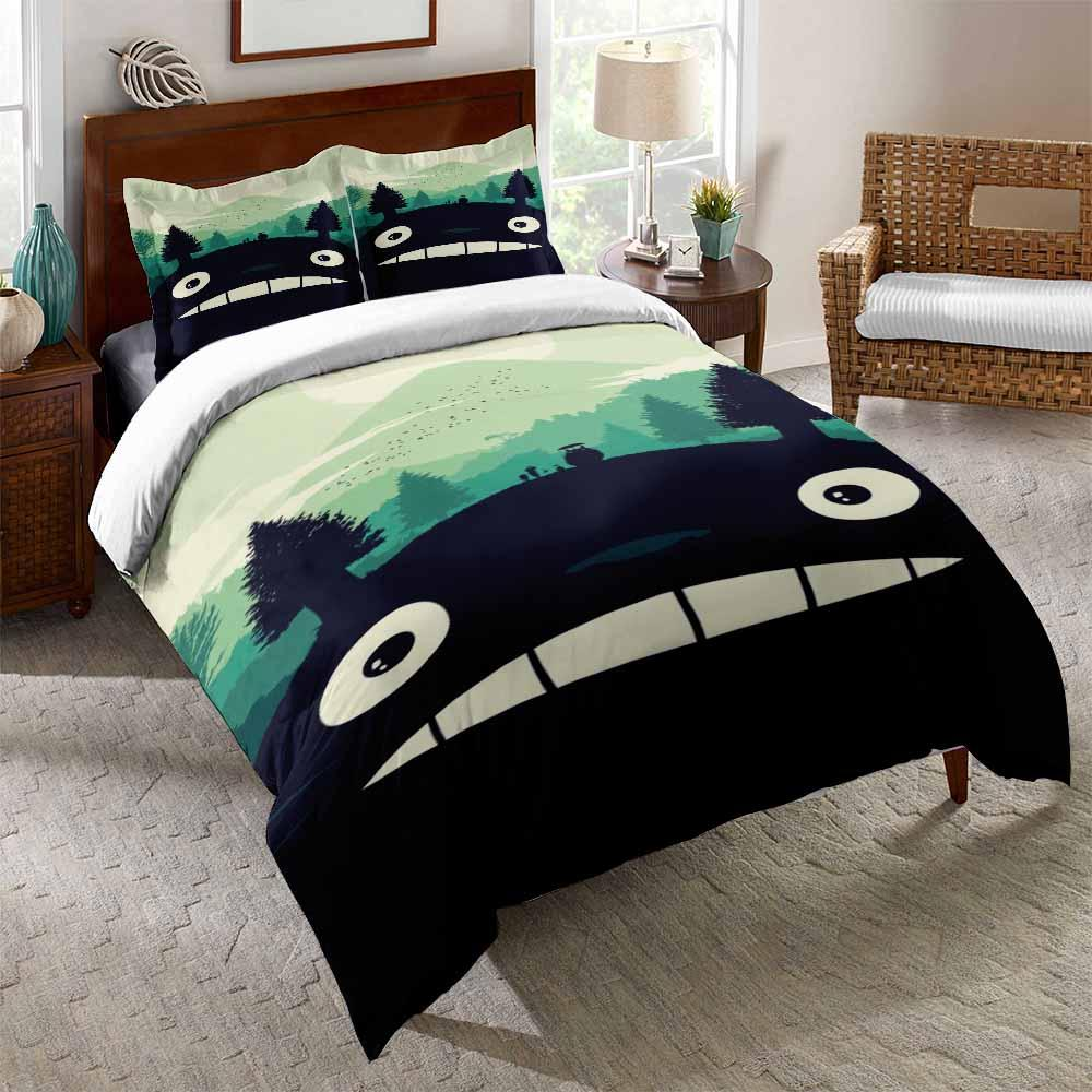 2020 My Neighbor Totoro Printed Bedding Sets Green For Boys Girls Bed Mrkoalahome
