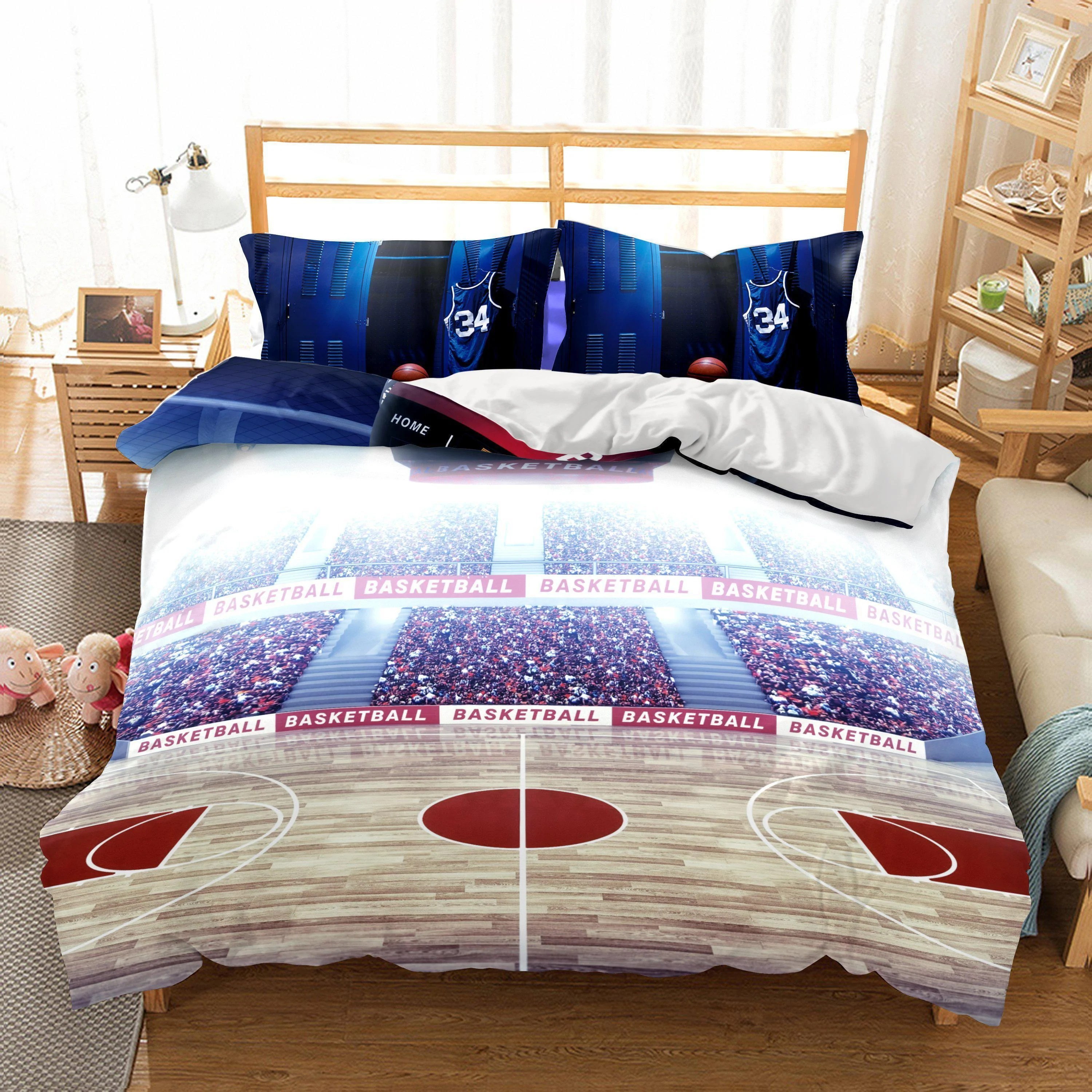 Wholesale Bedding 3d Basketball Court Printed Bedding Sets Mrkoalahome