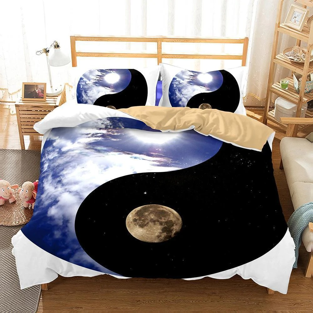 Yin And Yang Taichi Theme Home Decoration Printing Bedroom Bedding Bed Mrkoalahome