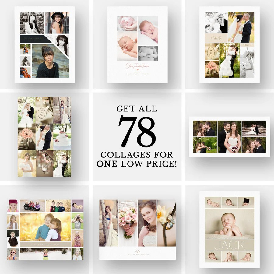 Collage Fotos Collage Templates 3 Dollar Templates