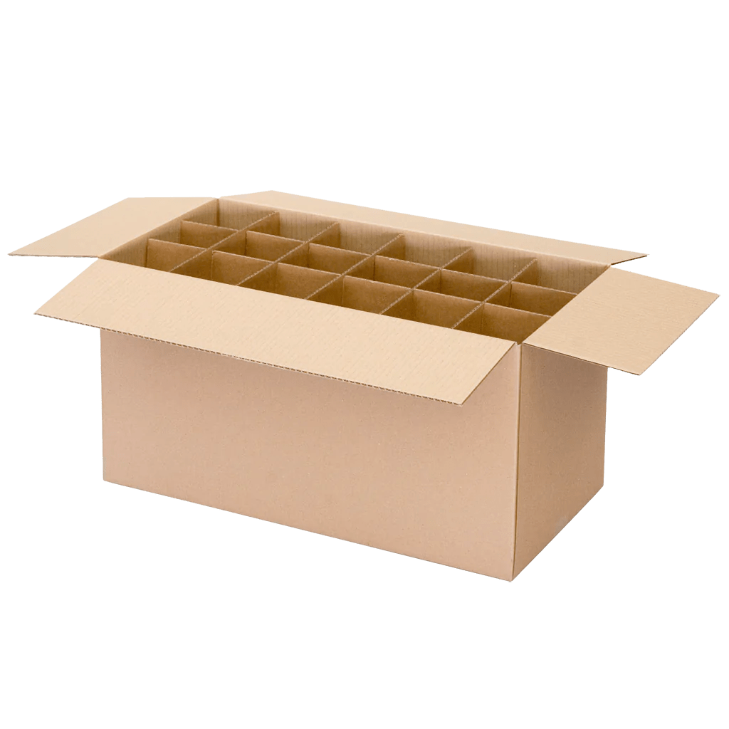Cardboard Box Dividers 5 X Moving Boxes Kitchen Cardboard Box With Dividers Storage Cartons A Grade