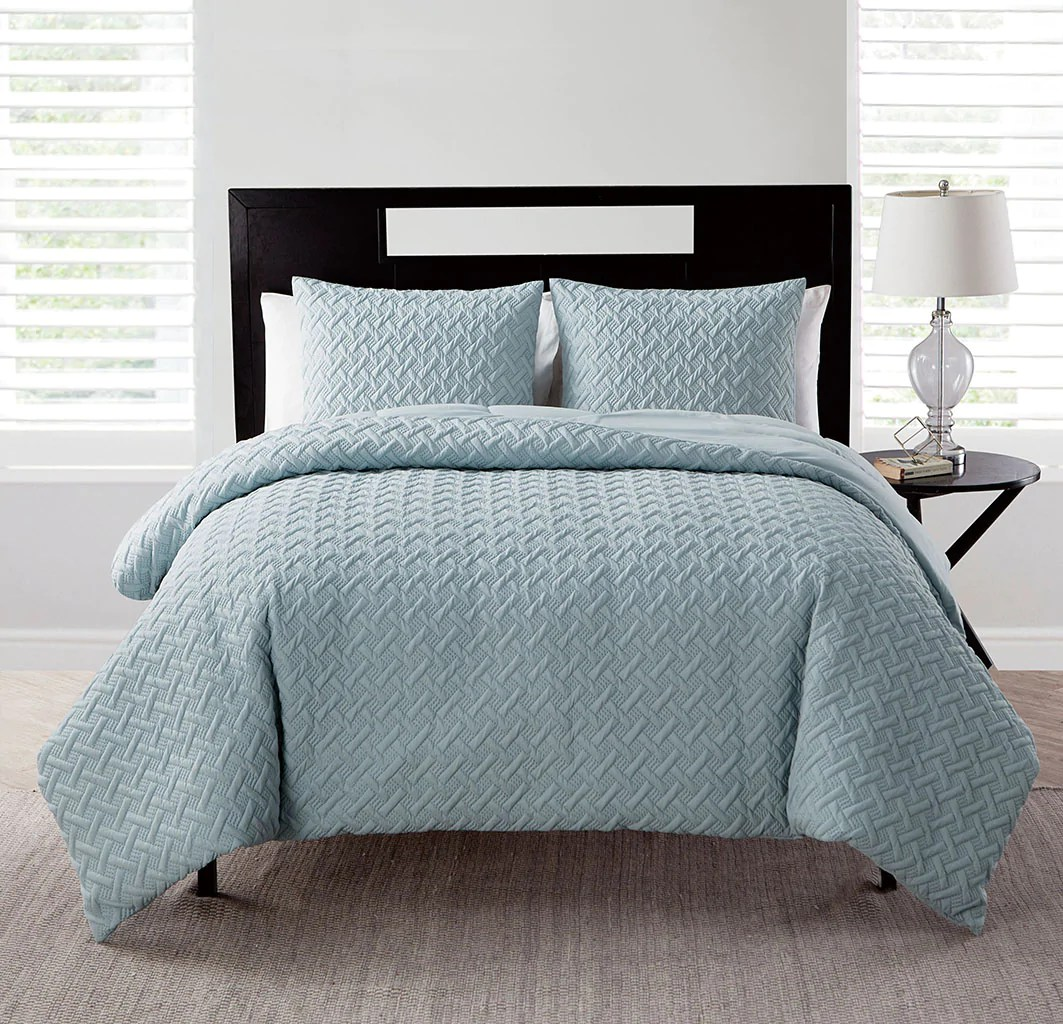 Duvet And Comforter Sets Vcny Home Nina Geometric Embossed 2 3 Piece Comforter Set