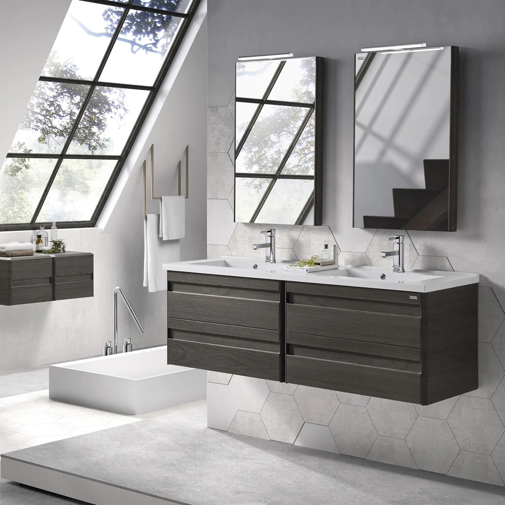 Wall Mount Double Vanity 48