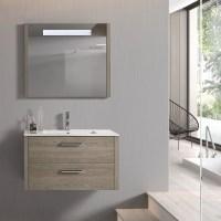 "28"" LED Backlit Bathroom Vanity Mirror, Wall Mount, Moon ..."