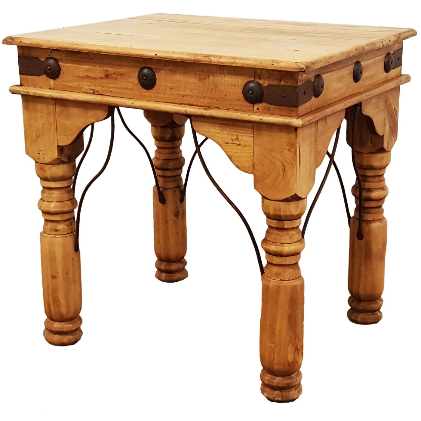 Rustic Wood End Table Indian End Table