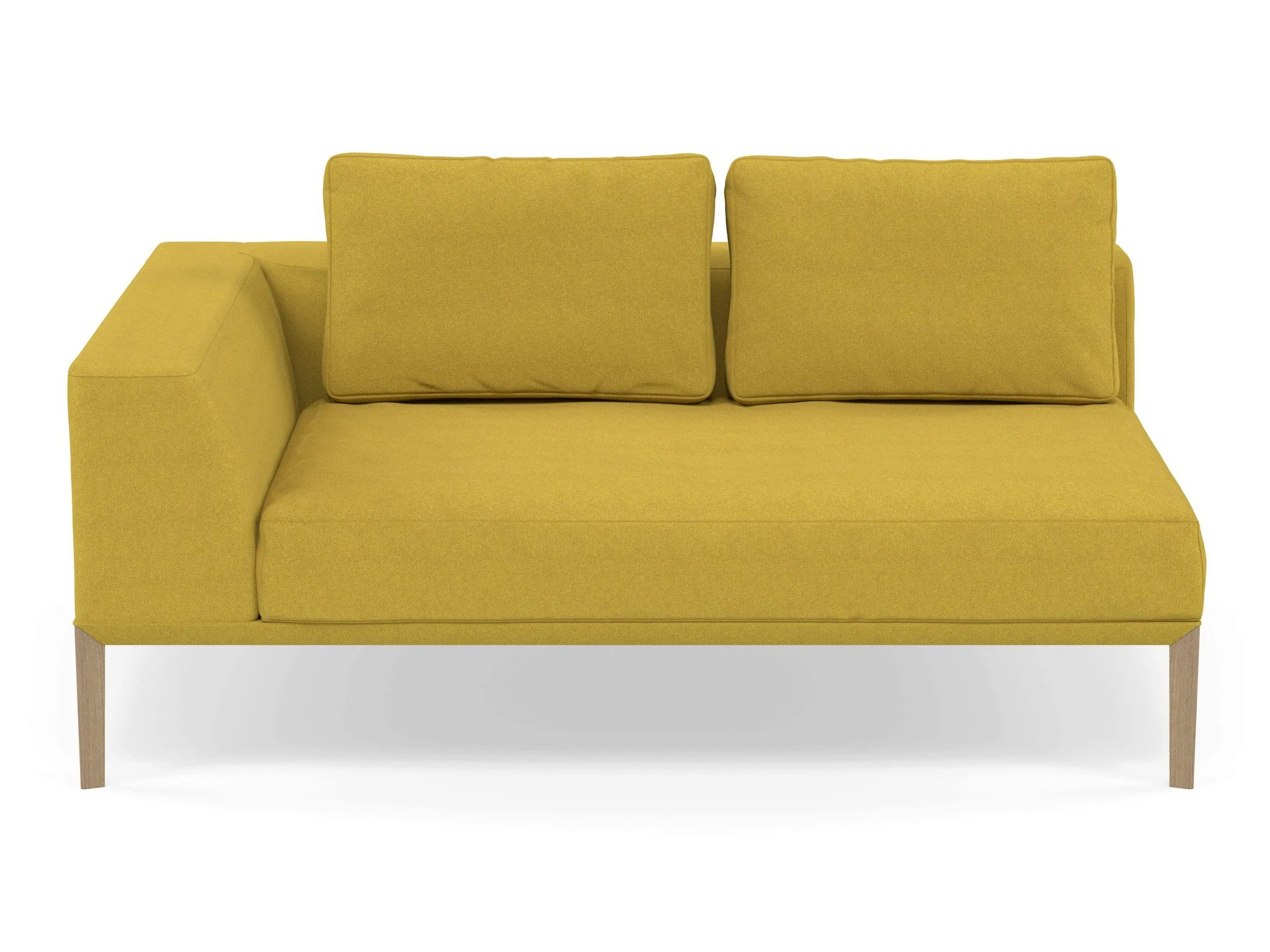 Modern 2 Seater Chaise Lounge Style Sofa With Right Armrest In Vibrant Distinct Designs London Ltd