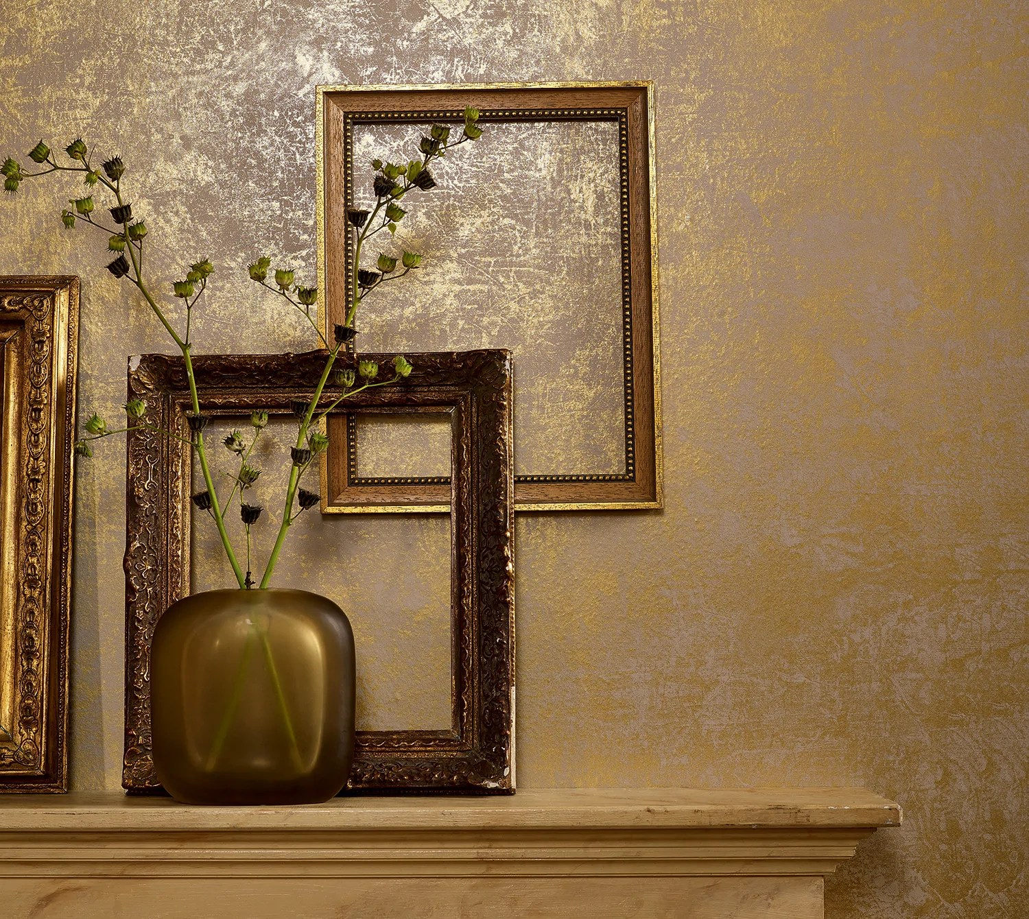 Metallic Gold Wallpaper Simplistic Rustic Metallic Gold Wallpaper R4288