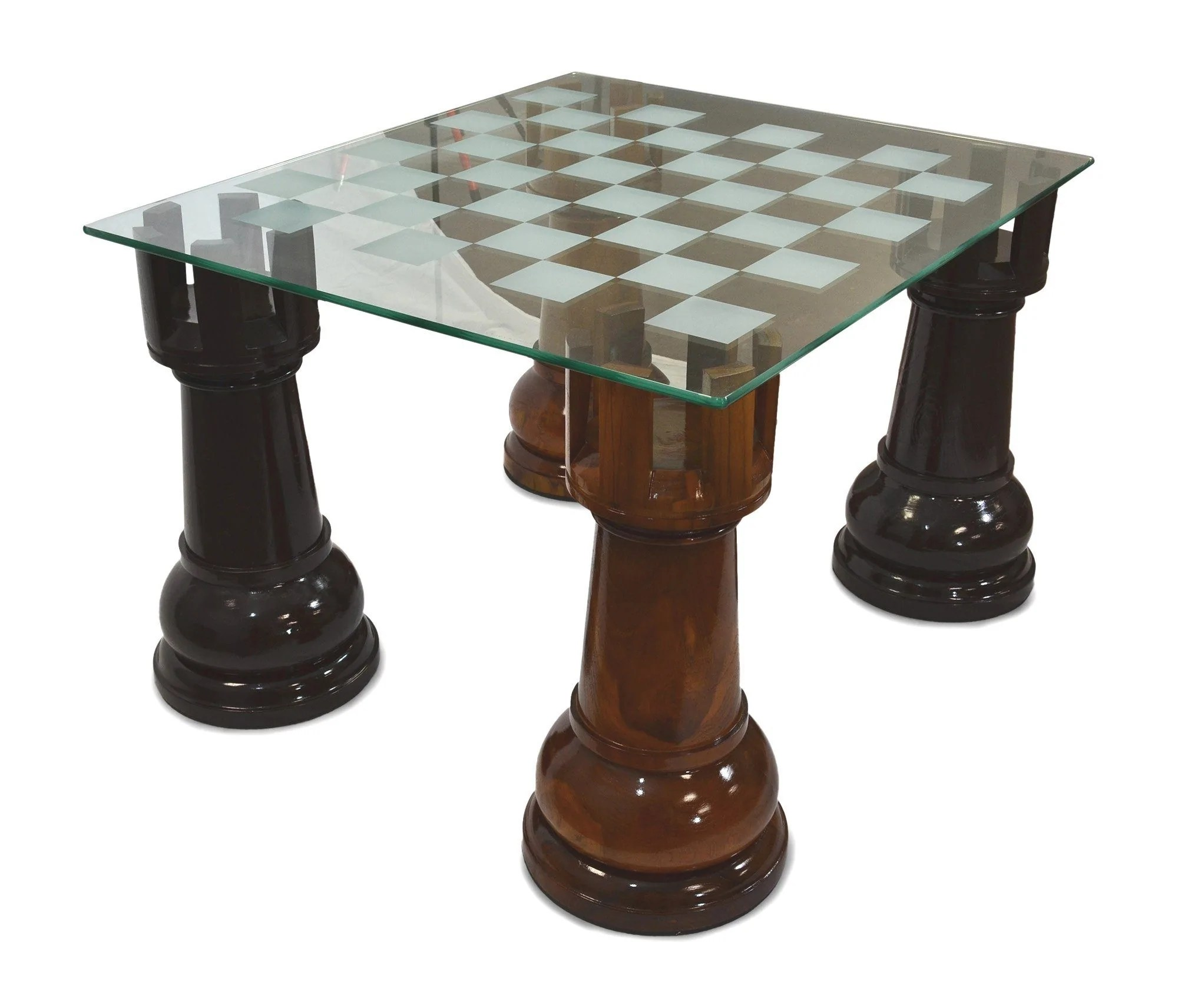 Chess Table Megachess 36 Inch Etched Glass Giant Chess Table Lawngames