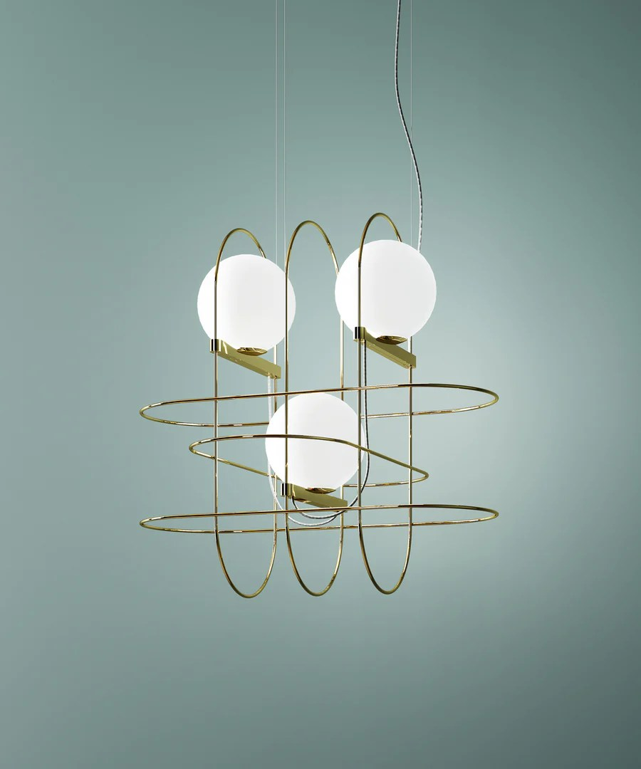 Fontana Arte Setareh 3 Suspension Lamp By Francesco Librizzi For Fontana Arte