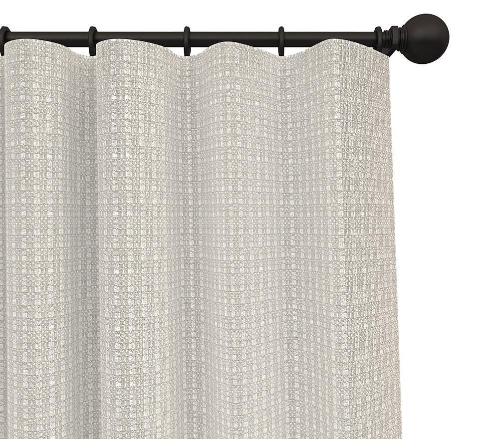 Cotton Curtain Panels Pair Montana Solid Woven Blended Cotton Curtain Panels With Free Curtain Rod