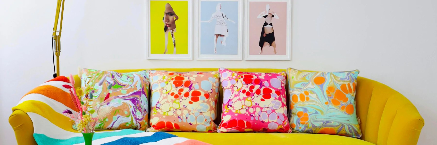 Retro Cushions Retro Cotton Cushions By Susi Bellamy Susi Bellamy