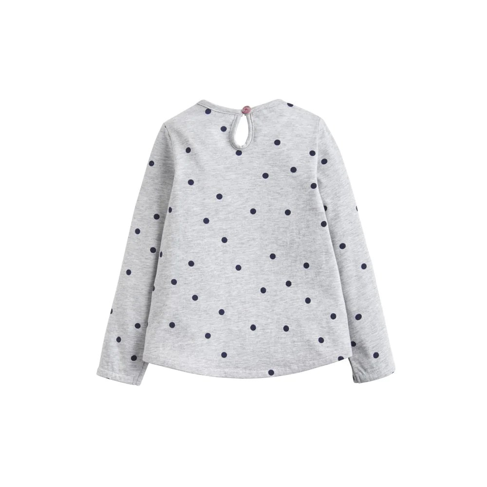 Spot Applique Joules Ava Applique Grey Marl Spot Bike