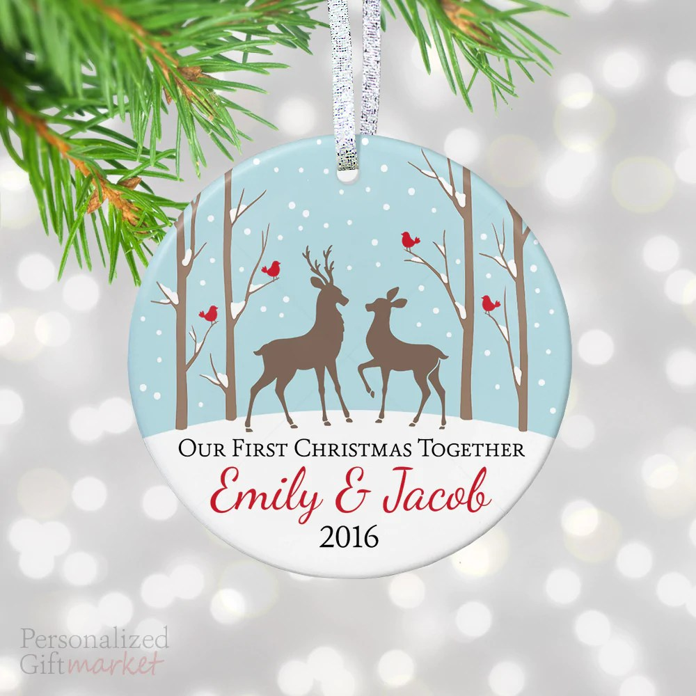 Peachy Couples Gift Our Toger Ornament Personalized Gift Ornament 2015 Ornament 2018 Our Toger Ornament inspiration First Christmas Ornament