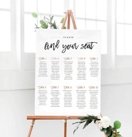 wedding chart - Boatjeremyeaton