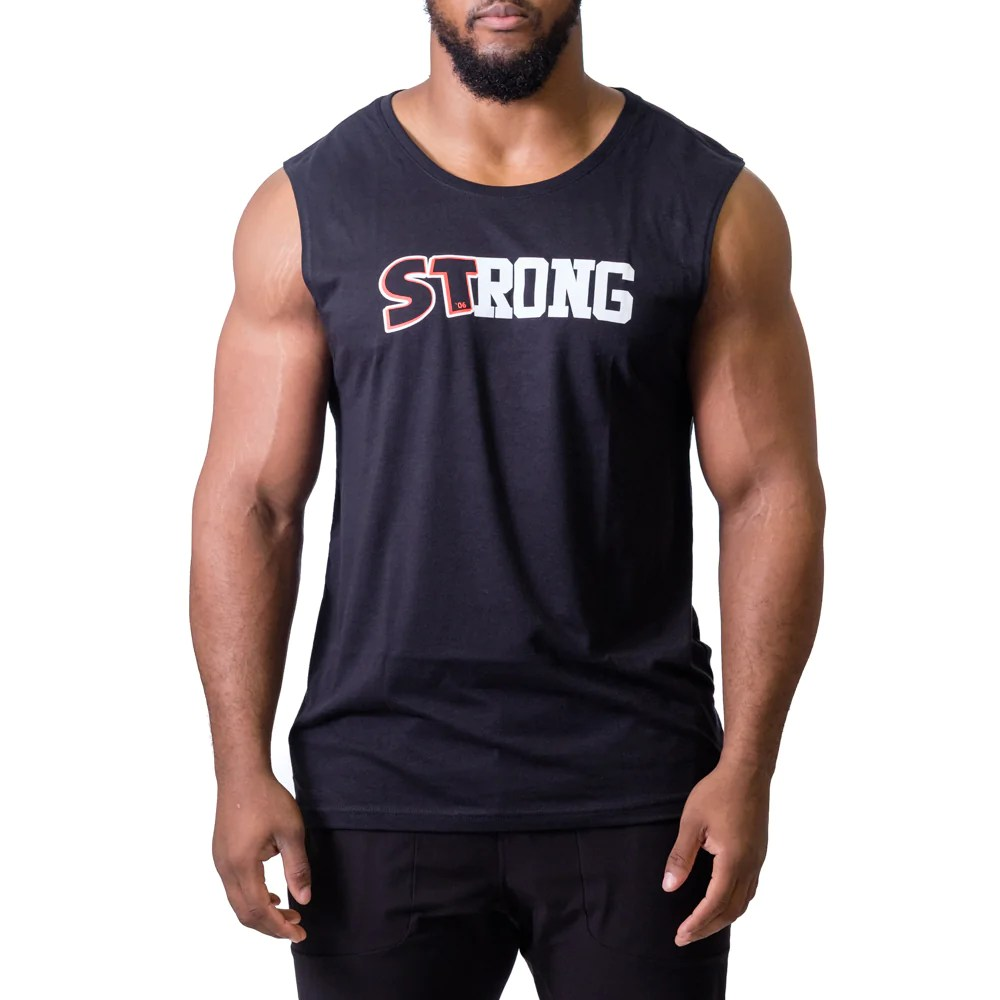 Muscle Shirt Strong Muscle Tee Cut Off Mark Bell Sling Shot