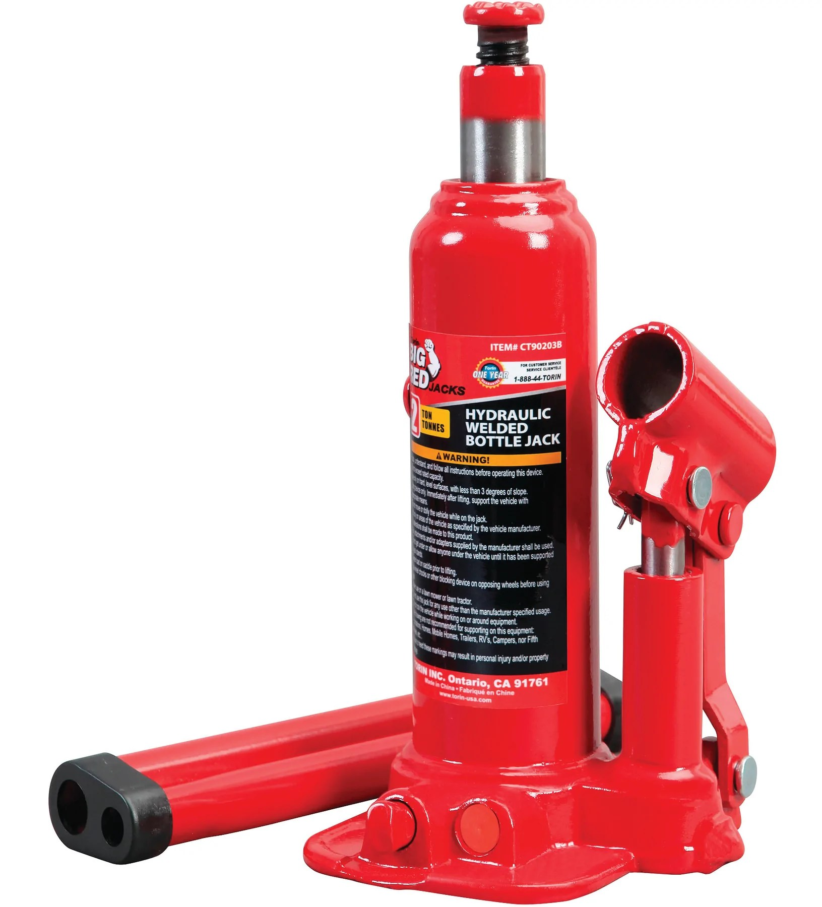 Big Red Welding Hydraulic Bottle Jack 2 Ton Partsource