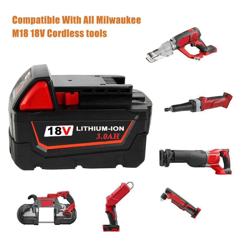 Milwaukee M18 Battery For Milwaukee 18v Battery Replacement M18 3 0ah Li Ion Battery