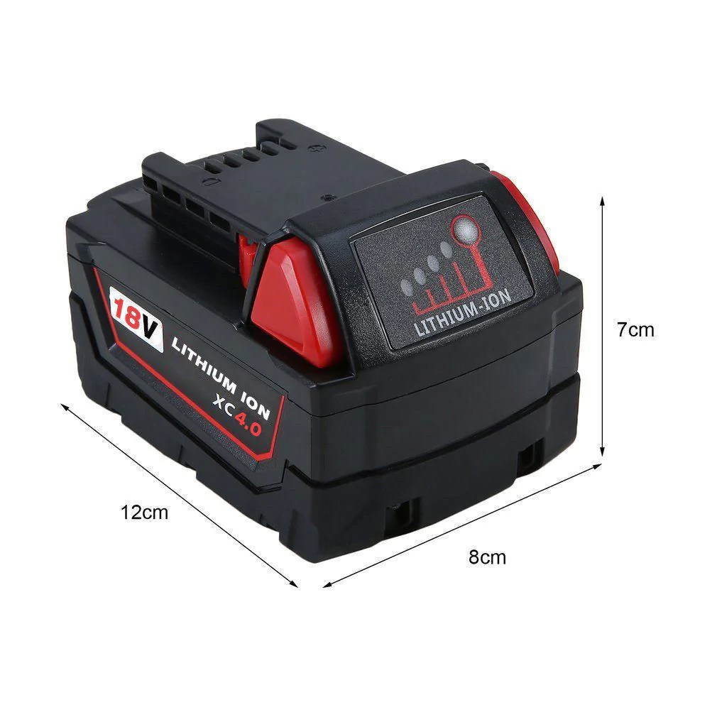 Milwaukee M18 Battery For Milwaukee 18v M18 Battery Replacement 4 0ah Li Ion Battery 2 Pack