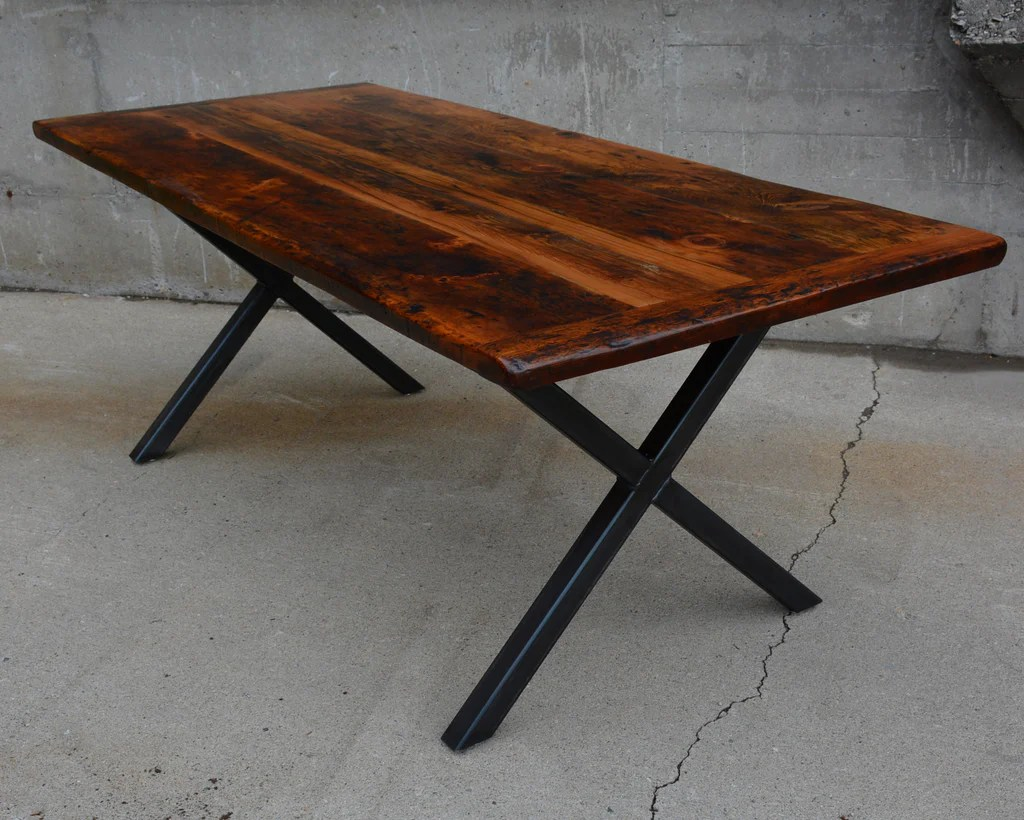 Canadian Made Dining Tables The X Lush Woodcraft