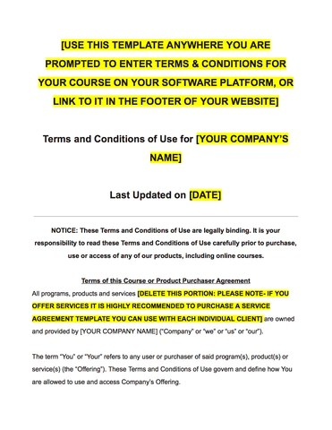 online selling terms and conditions template - Bire1andwap