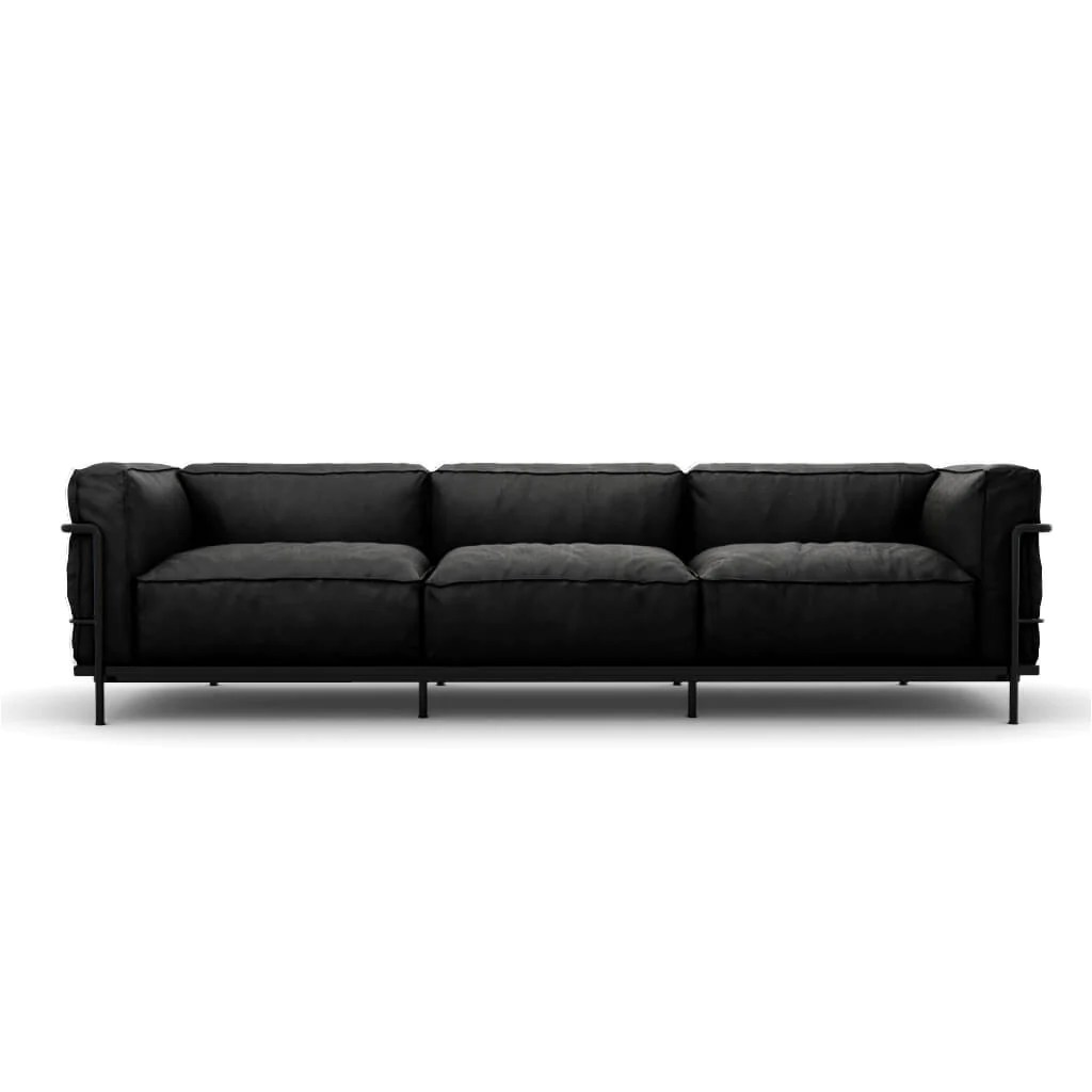 Xxl Sessel Roqu Lc3 Grand Modele Three Seat Sofa With Down Cushions