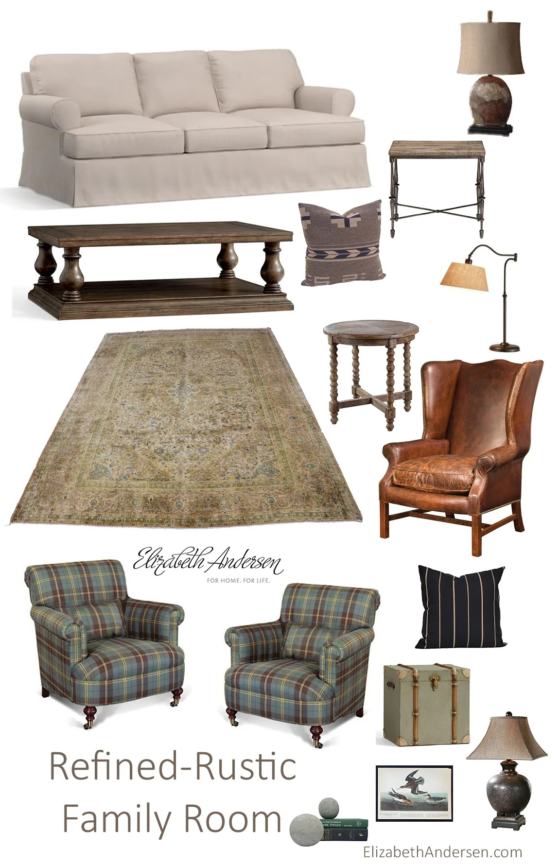 Rustic Family Room Refined Rustic Family Room Inspiration Elizabeth Andersen