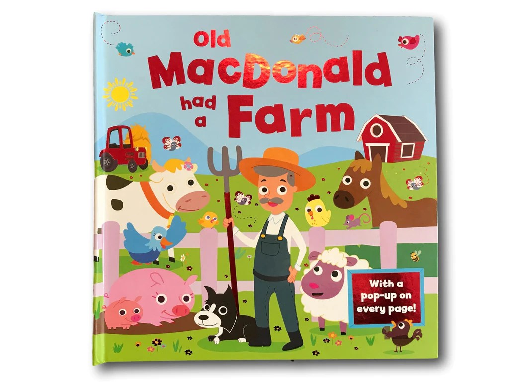 Pop Up Book Cover Old Macdonald Had A Farm Pop Up Kids Children Baby 3d Popup Book