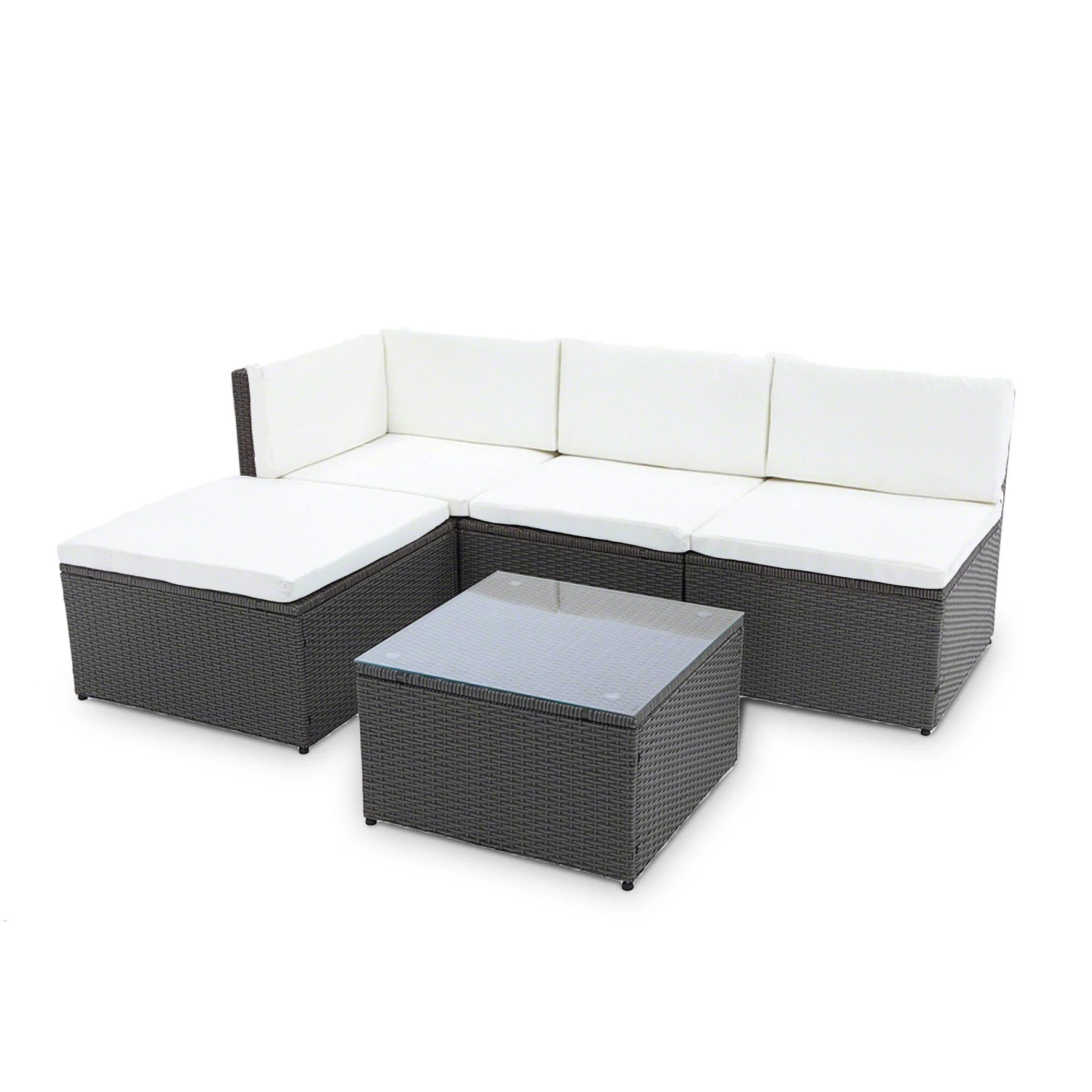 Outdoor Sofa Rattan Corner Sofa Rattan Garden Furniture Set Black