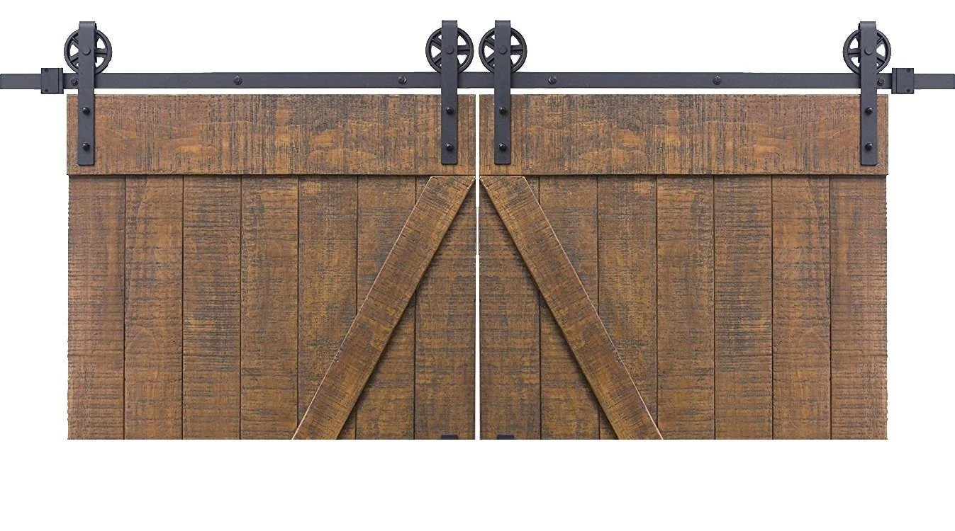 Barn Door Wheels Vintage Double Barn Door Hardware Matte Black