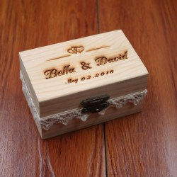 Pristine Rustic Wedding Ring Bearer Personalized Wedding Ring Wooden Ringher Wedding Decor Customized Wedding Gifts Rustic Wedding Ring Bearer Personalized Wedding Ring Box
