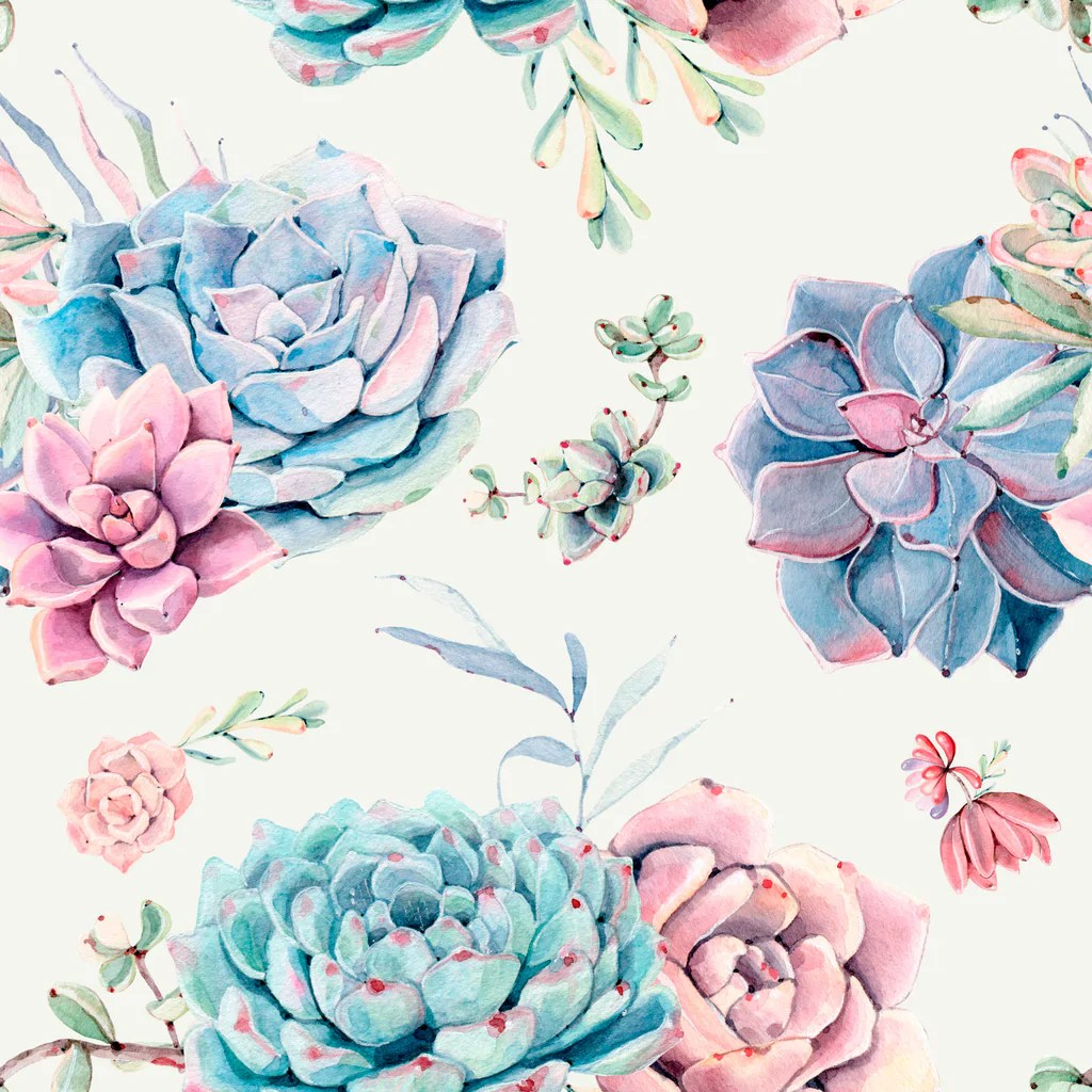 Pink Fall Wallpaper Hd Large Floral Succulents Removable Wallpaper By Wallspruce