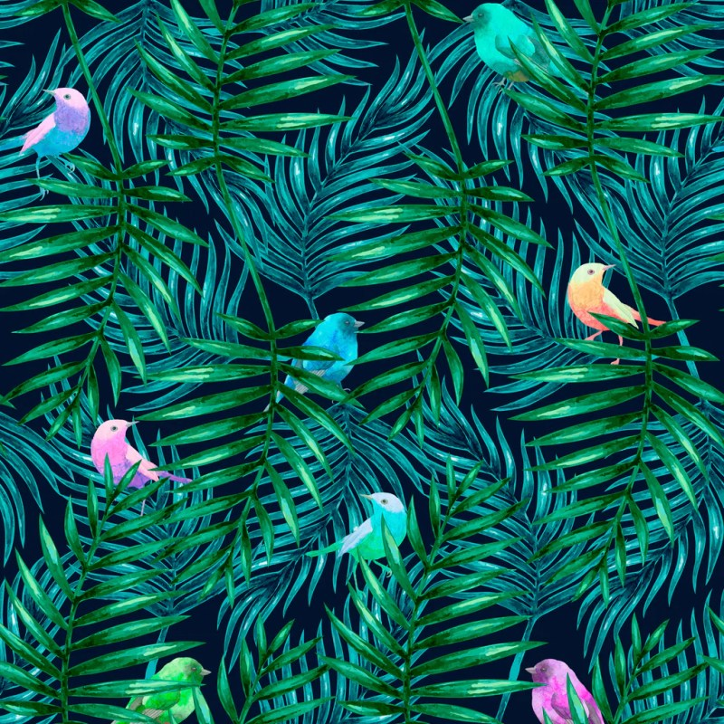Large Of Palm Leaves Wallpaper