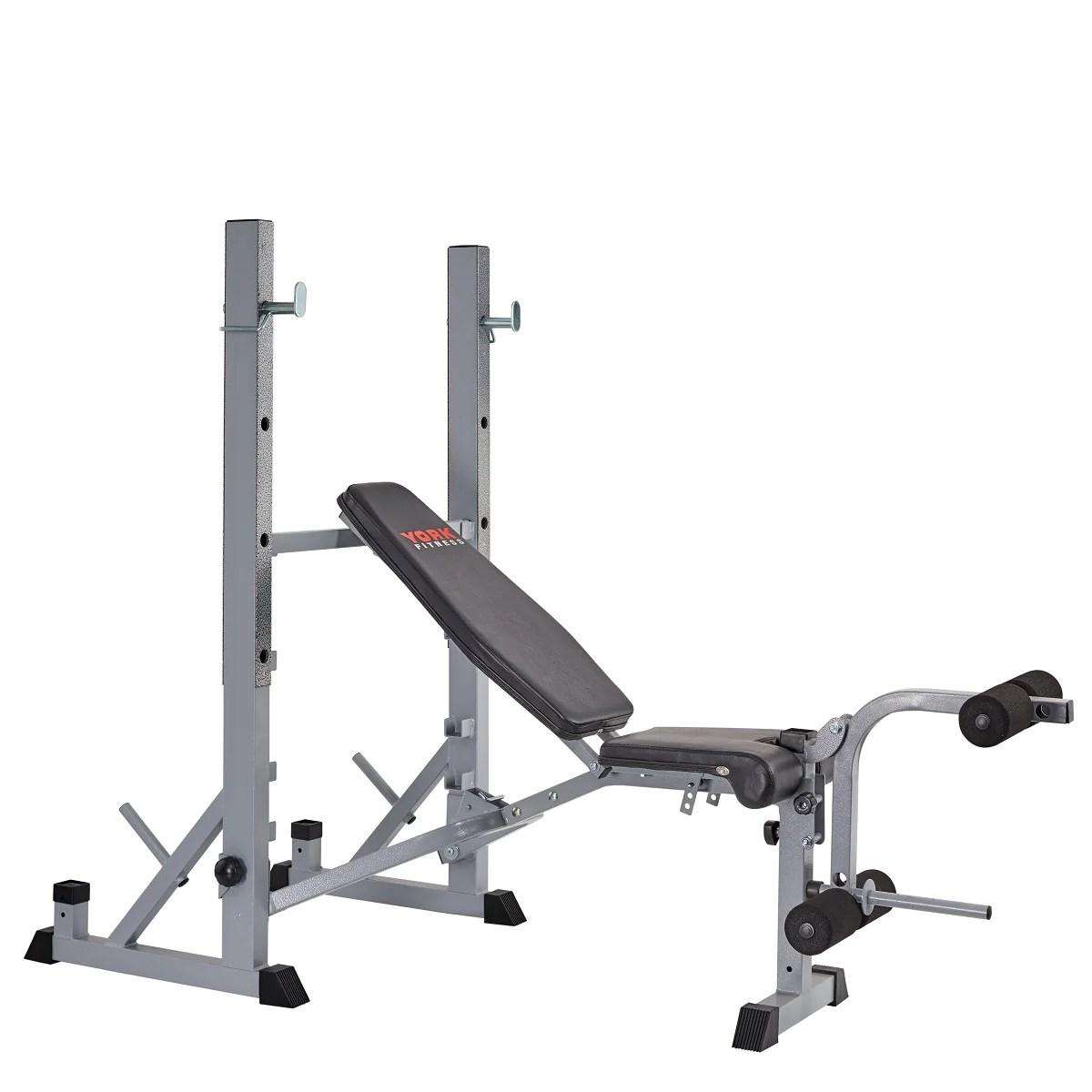 York Fitness 540 Heavy Duty Folding Barbell Bench Squat