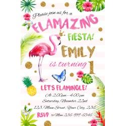 Endearing Flamingo Birthday Party Flamingo Birthday Party Party Invitations Wording Party Invitations Template Free invitations Pool Party Invitations