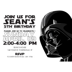 Small Crop Of Star Wars Invitations